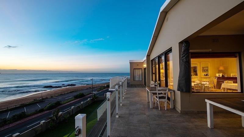 Blick vom Fairlight Beach House in Südafrika | Abendsonne Afrika