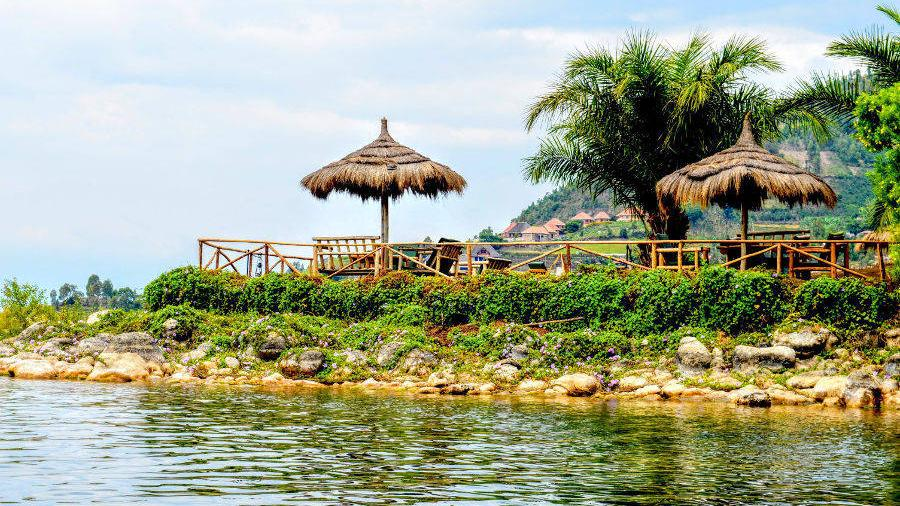 Strand im Paradise Malahide in Ruanda | Abendsonne Afrika