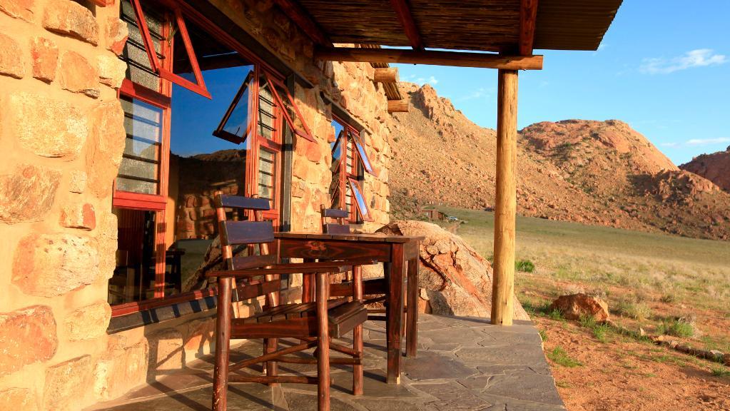Blick vom Klein-Aus Vista in Namibia | Abendsonne Afrika
