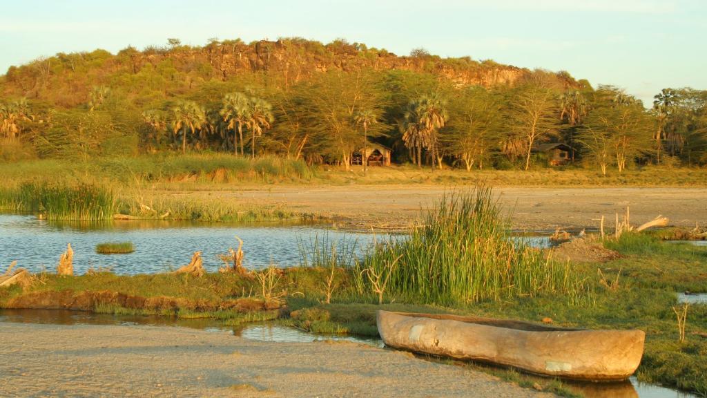 Blick von der Kisima Ngeda Lodge in Tansania | Abendsonne Afrika