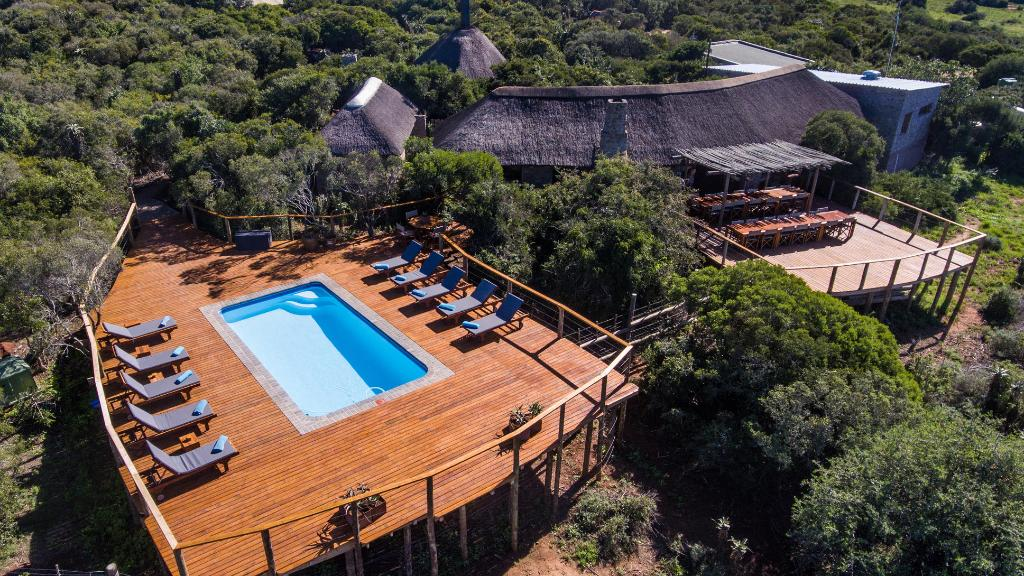 Haupthaus des Woodburry Tented Camp in Südafrika | Abendsonne Afrika