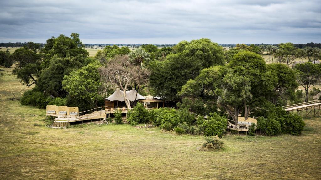 Blick aufs Little Mombo in Botswana | Abendsonne Afrika