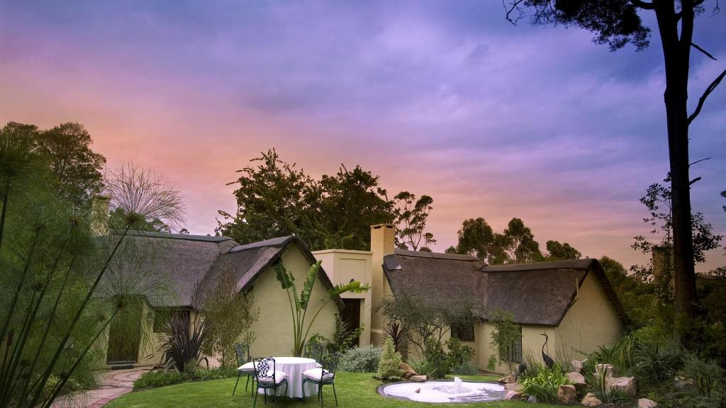 Familiensuite im Hunter's Country Guest House in Südafrika   Abendsonne Afrika
