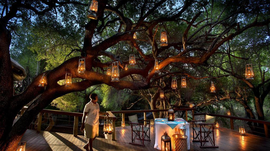 Stimmung in der Jaci's Safari Lodge in Südafrika | Abendsonne Afrika