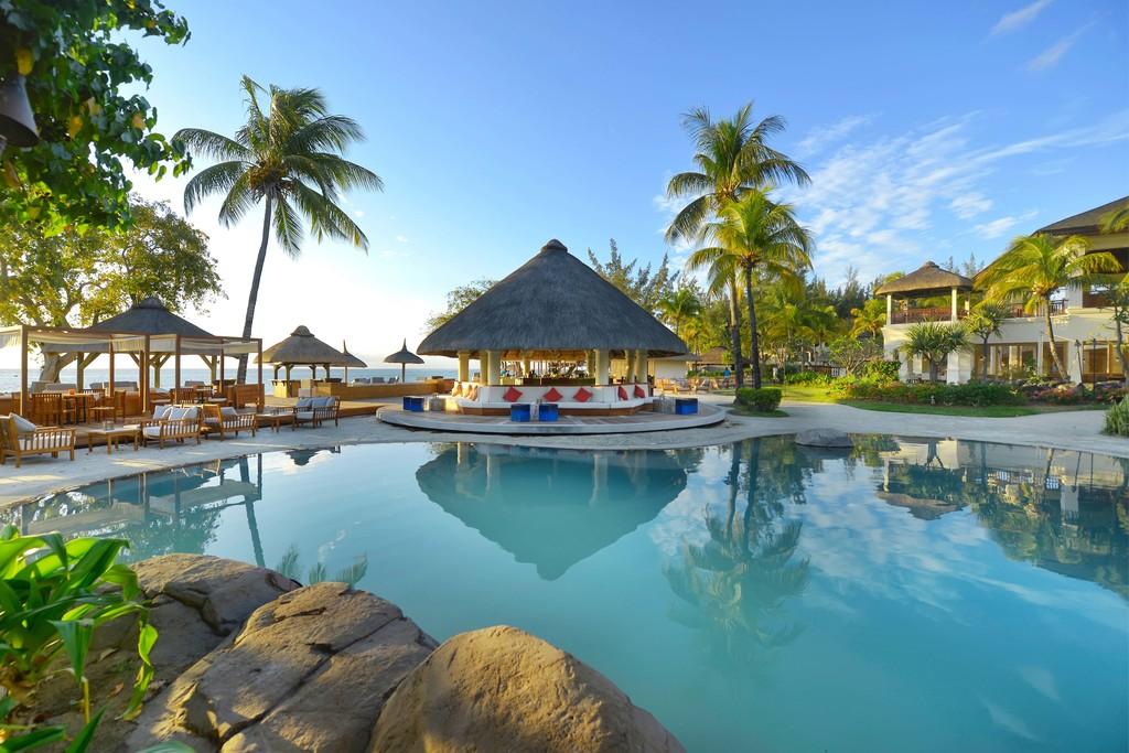 Aqua Bar im Hilton Mauritius Resort & Spa auf Mauritius | Abendsonne Afrika