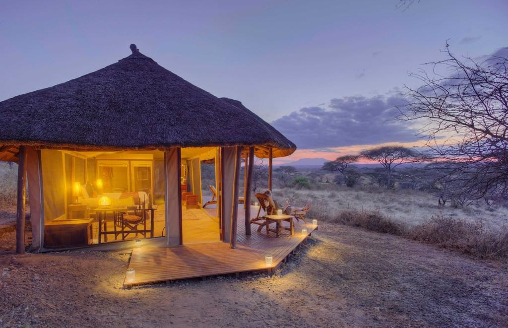 Oliver's Camp, Tarangire Nationalpark, Tansania | Abendsonne Afrika