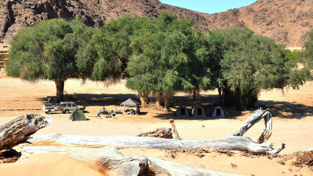Zelte auf Mobiler Safari, Namibia | Abendsonne Afrika