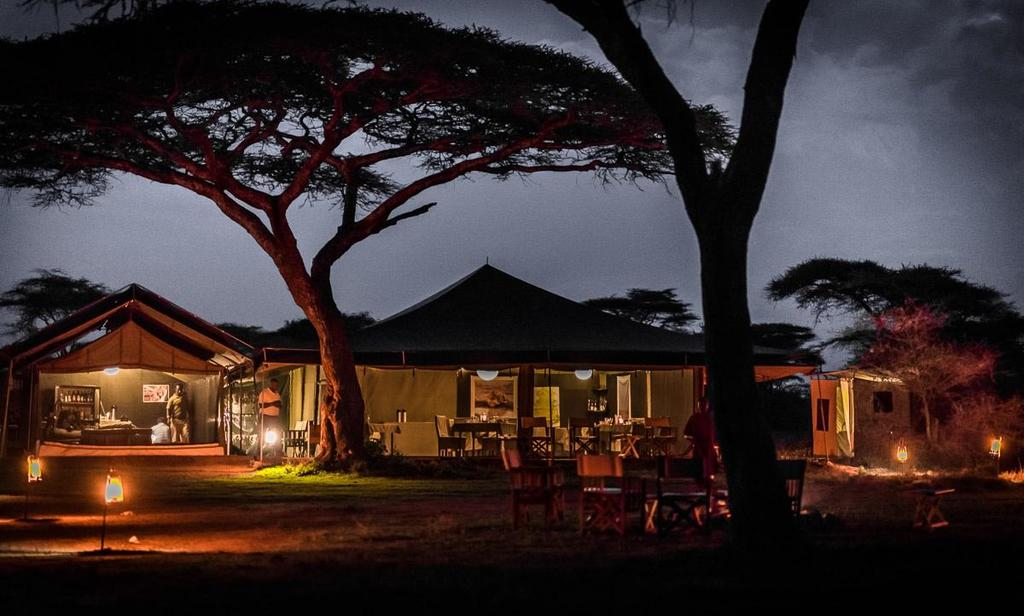 Abends im Ang'ata Migration Camp in Tansania | Abendsonne Afrika