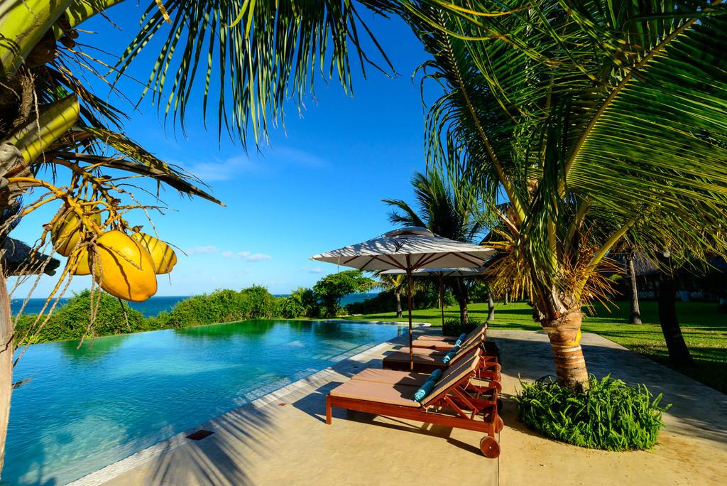 Pool des Bahia Mar Boutique Hotels in Mosambik | Abendsonne Afrika