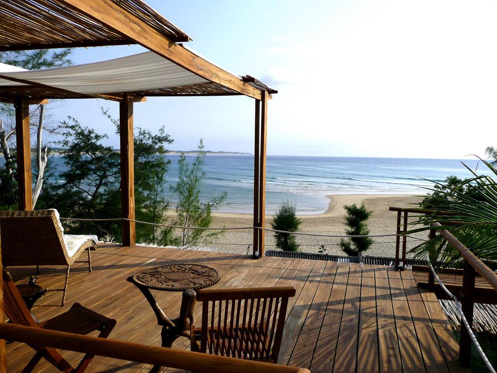Meerblick vom Baia Sonambula Guest House in Mosambik | Abendsonne Afrika