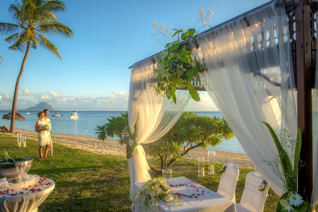 Hochzeit im Sofitel Mauritius L´Imperial Resort auf Mauritius   Abendsonne Afrika