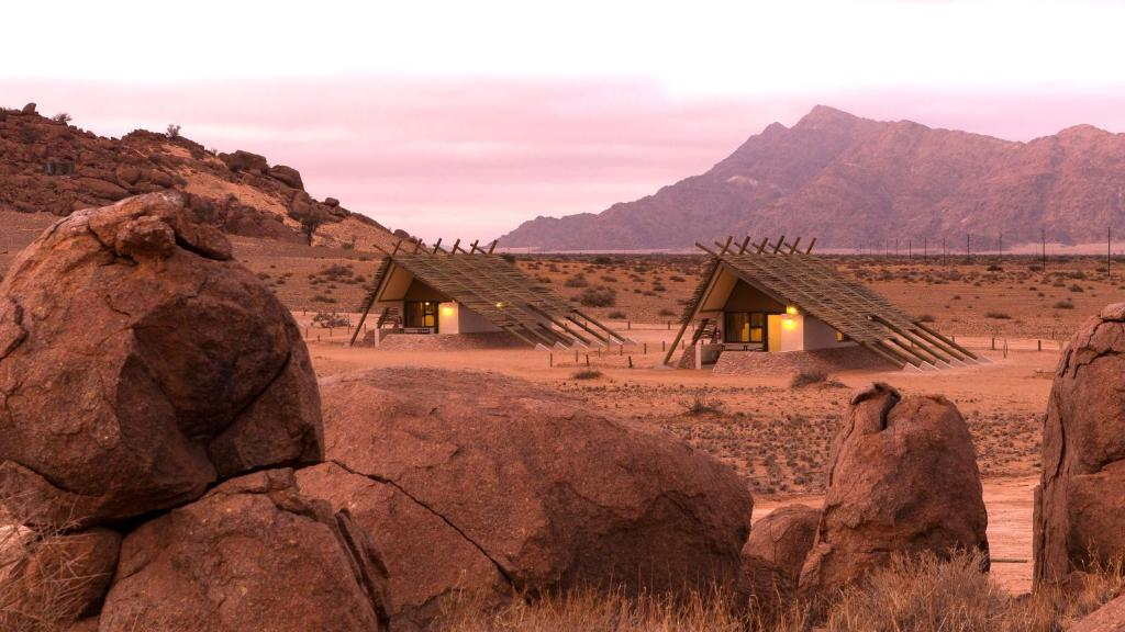 Lage des Desert Quiver Camps in Namibia | Abendsonne Afrika