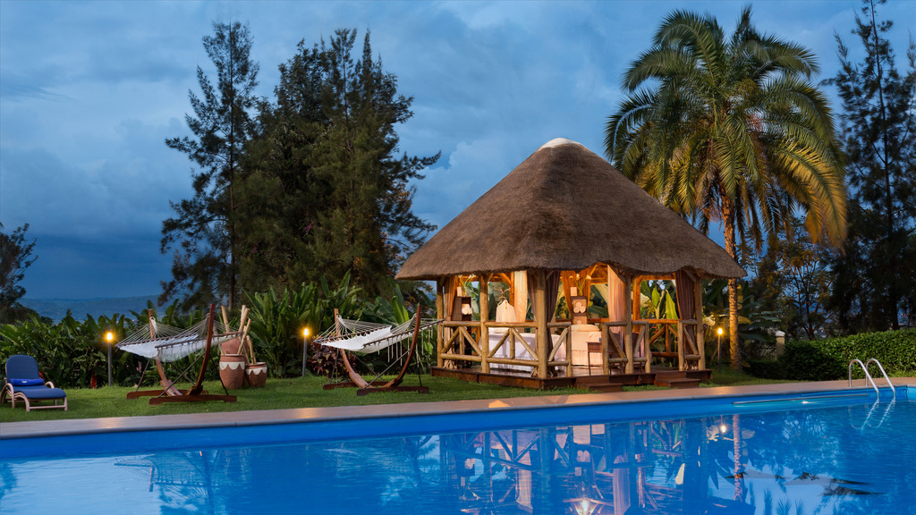Spa Bereich im Hotel Des Milles Collines in Ruanda | Abendsonne Afrika