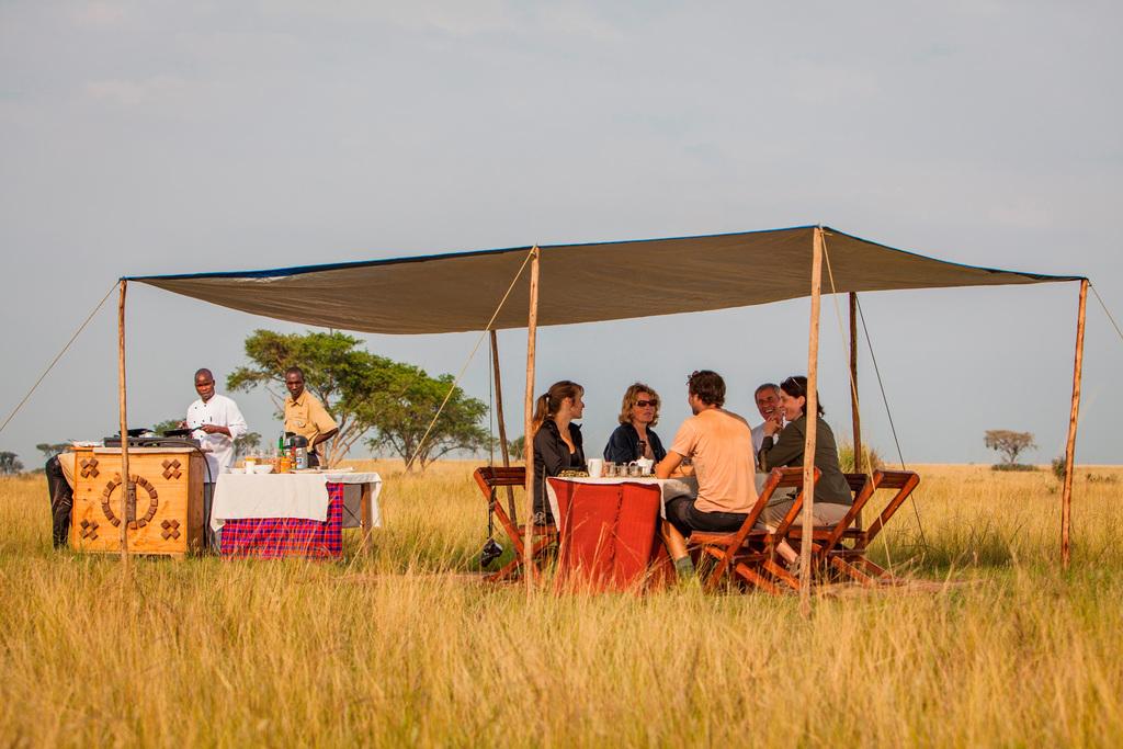 Wildbeobachtung des Ishasha Wilderness Camp in Uganda | Abendsonne Afrika