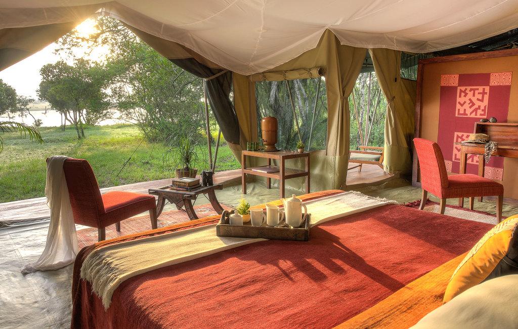 Zelt im Kicheche Bush Camp in Kenia | Abendsonne Afrika