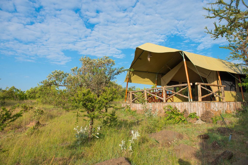 Zelt im Kilima Camp in Kenia | Abendsonne Afrika