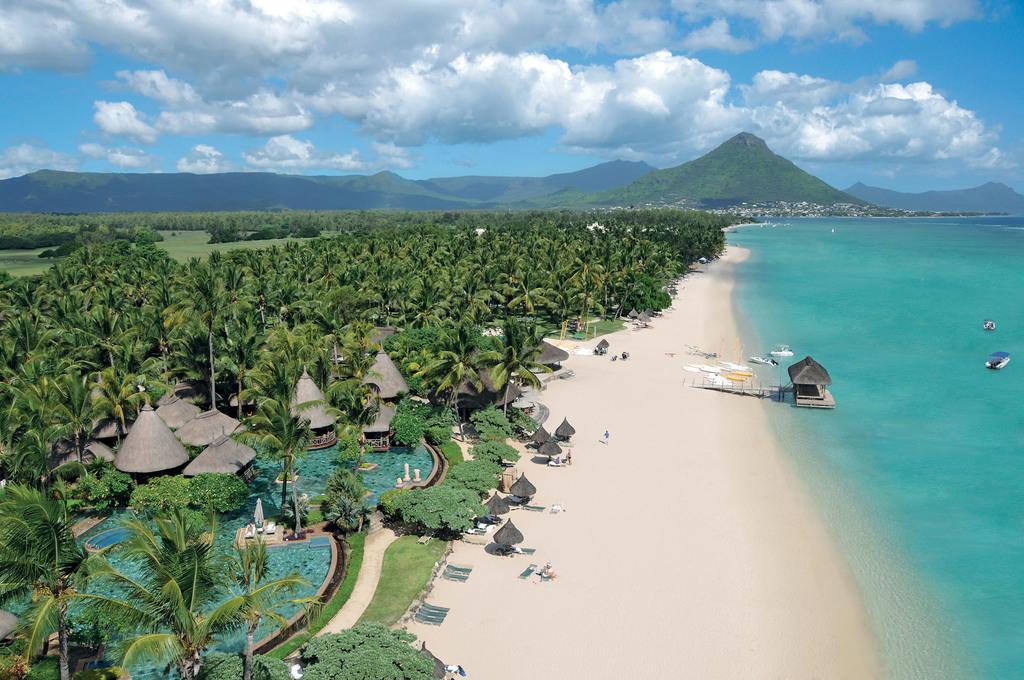 Blick auf das La Pirogue Resort & Spa auf Mauritius | Abendsonne Afrika
