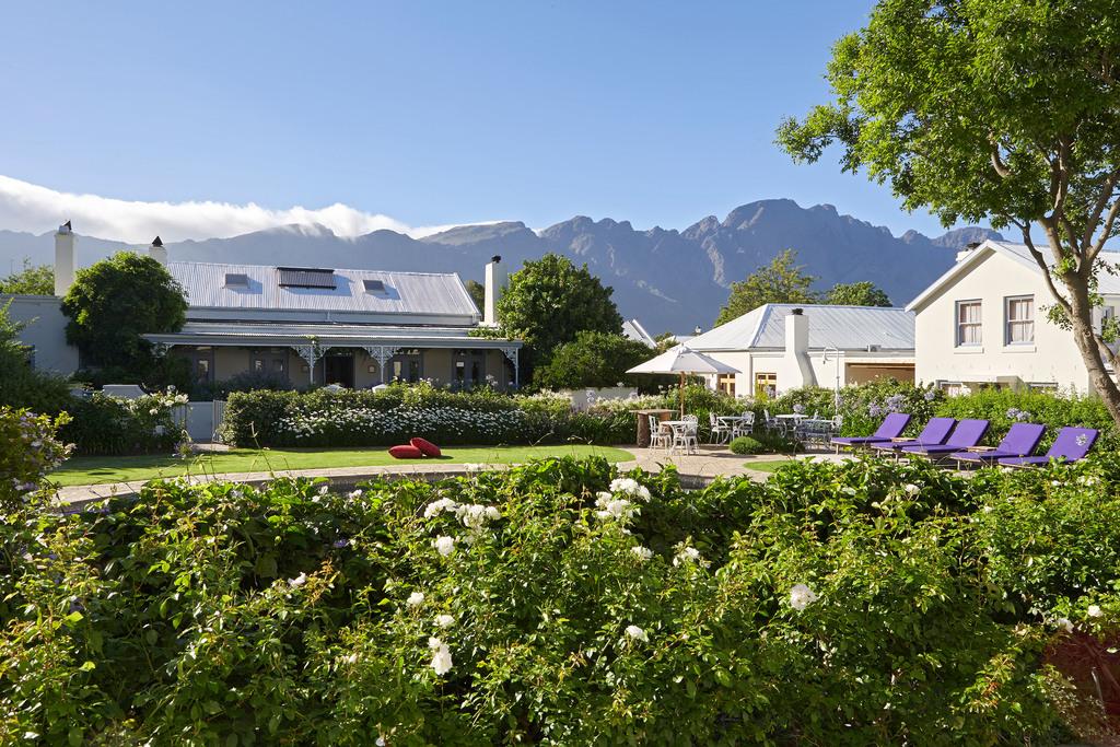 Garten des Le Quartier Français in Südafrika | Abendsonne Afrika