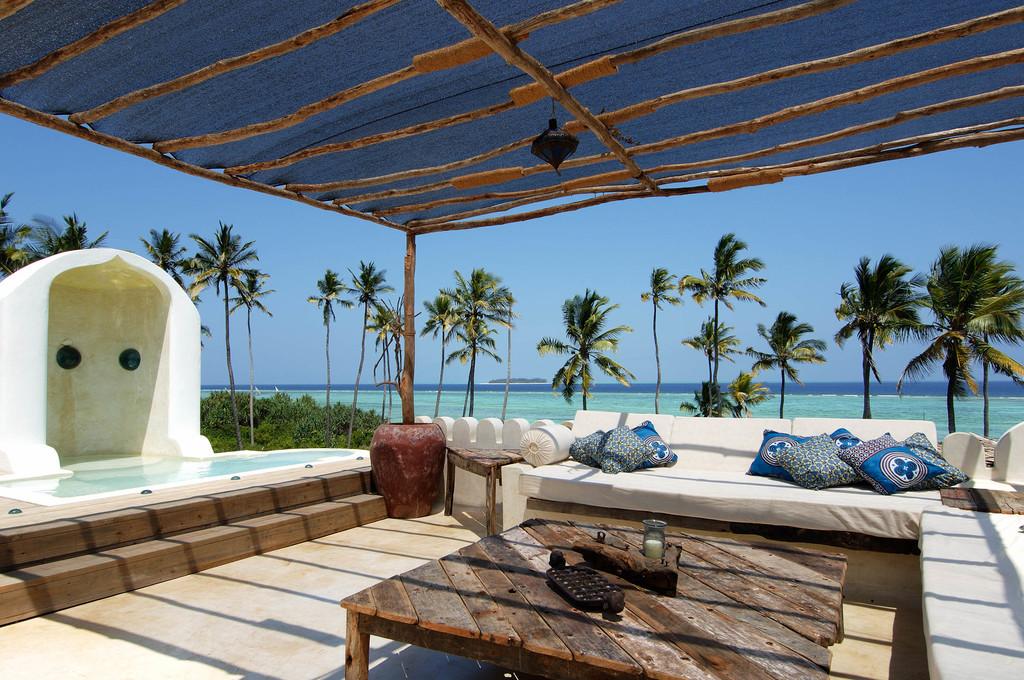 Dachterrasse des Matemwe Retreat auf Sansibar | Abendsonne Afrika