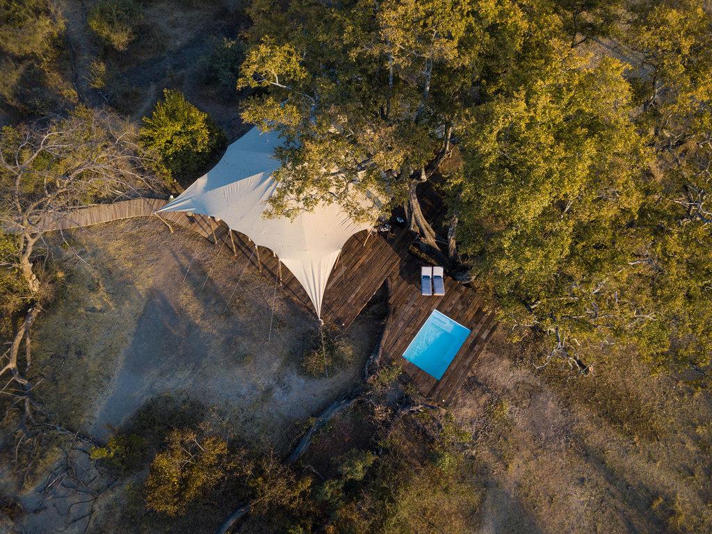 Zelt im Mpala Jena Camp in Simbabwe | Abendsonne Afrika