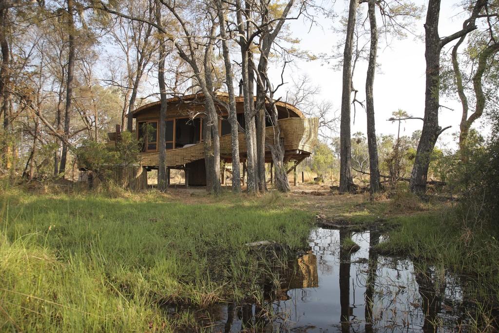 Sandibe Okavango Safari Lodge im Okavango Delta in Botswana | Abendsonne Afrika