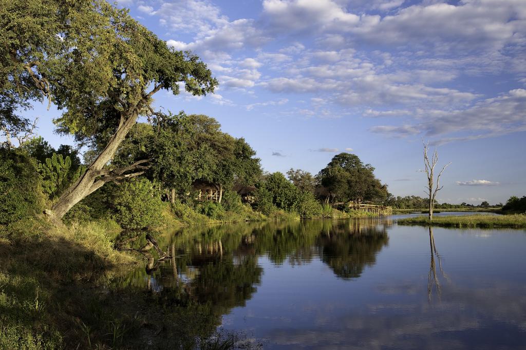 Savuti Kanal vor dem Savuti Camp in Botswana | Abendsonne Afrika