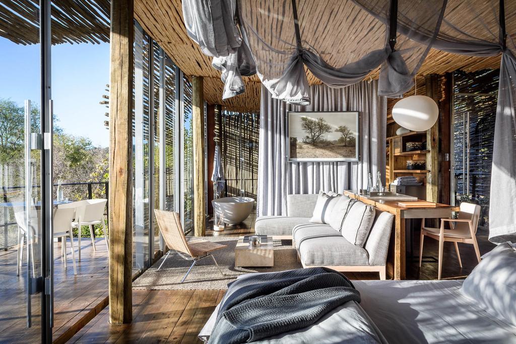 Suite der Singita Lembombo Lodge in Südafrika | Abendsonne Afrika