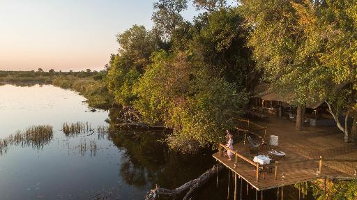 Xugana Island Lodge   Abendsonne Afrika