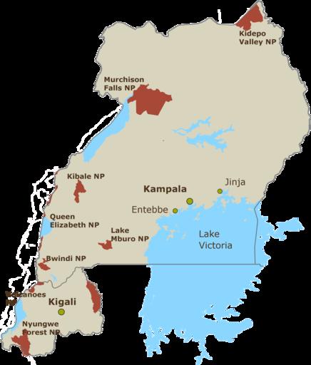 Uganda/Ruanda Karte