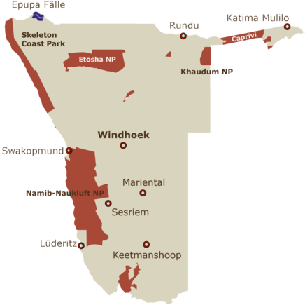 Namibia Karte