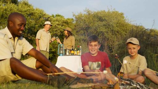 Familiensafari Botswana | Abendsonne Afrika