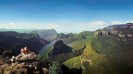 Ausblick auf die Panoramaroute in Südafrika | Abendsonne Afrika