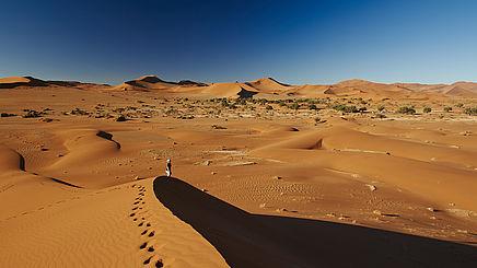 Dünen im Sossusvlei in Namibia | Abendsonne Afrika