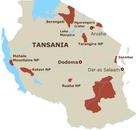 Sansibar & Pemba Map