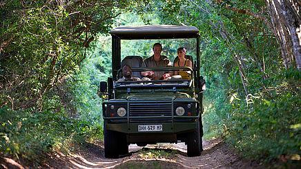 Wildbeobachtungsfahrt im iSimangaliso Wetland Park in Südafrika | Abendsonne Afrika