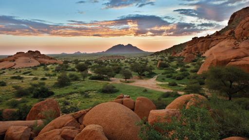 Spektakuläres Namibia | Abendsonne Afrika