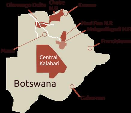 Botswana Karte