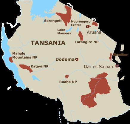 Tansania Karte