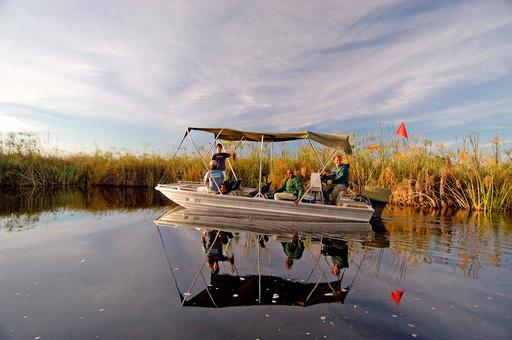 Camp Okavango | Abendsonne Afrika