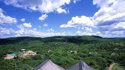 Blick über das Phinda Private Game Reserve in Südafrika | Abendsonne Afrika