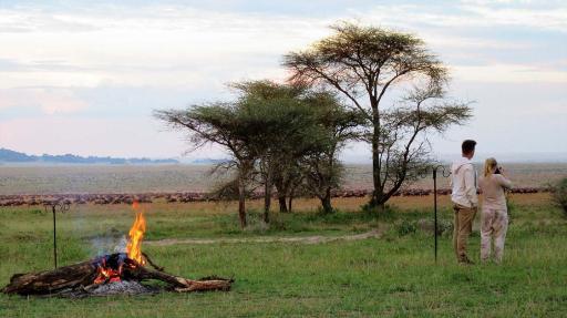 Serengeti View Camp   Abendsonne Afrika