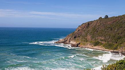 Küstenlinie im Robberg Nature Reserve in Südafrika