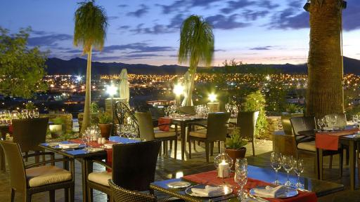 Hotel Heinitzburg   Abendsonne Afrika