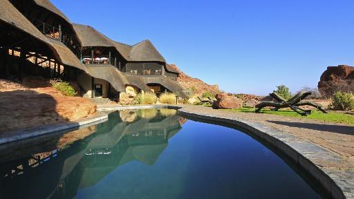 Twyfelfontein Country Lodge | Abendsonne Afrika