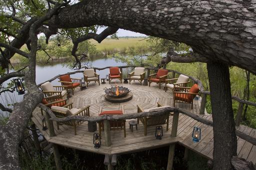 Camp Xakanaxa   Abendsonne Afrika