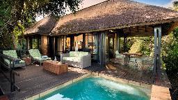 Chalet in der Phinda Vlei Lodge in Südafrika | Abendsonne Afrika