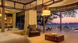 Chalet im Chinzombo Camp in Sambia | Abendsonne Afrika