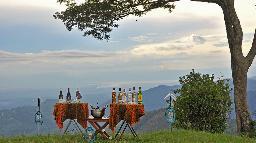 Aussicht von der Nkuringo Bwindi Gorilla Lodge