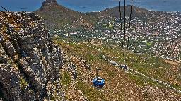 Seilbahn auf den Tafelberg, Kapstadt, Südafrika | Abendsonne Afrika