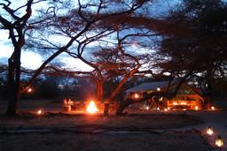 Abendstimmung im Amboseli Porini Camp in Kenia | Abendsonne Afrika